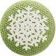 Sweater Weather- Green Fabric Button With Snowflake
