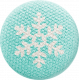 Sweater Wether- Blue Fabric Button with Snowflake