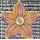 Spookalicious- Purple Orange Striped Flower