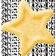 Birthday Wishes- Yellow Glitter Star