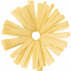 Birthday Wishes- Yellow Frilled Paper Flower
