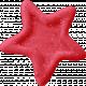 Birthday Wishes- Red Glitter Star