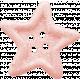Birthday Wishes- Pink Glitter Star Button
