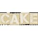 Birthday Wishes- Cork Board Word Art- Cake