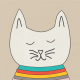 Furry Friends- Kitty- Cool Cat 3 x 3 Card
