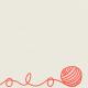 Furry Friends - Kitty - Yarn Ball 3 x 3 Card