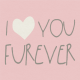 Furry Friends- Kitty- Love You Furever 3 x 3 Card