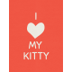 Kitty- Journal Card- I Love My Kitty- 3 x 4