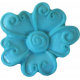 Button Mix Set 01- Button # 01- Teal Flower