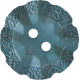 Button Mix Set 01- Ornate Blue Button- #12