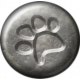 Furry Friends - Kitty - Metal Pawprint Brad Template