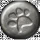 Furry Friends- Kitty- Metal Pawprint Brad Template