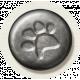 Furry Friends- Kitty- Metal Paw Print Brad