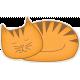 Furry Friends- Kitty- Sleeping Kitty Sticker