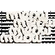 Furry Friends - Kitty - White Wood Meow Word Art