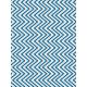 Shine- Journal Card- Blue & White Chevrons