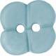 Button Mix Set # 03- Button 05- Light Blue Flower