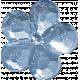 Button Mix Set # 03- Button 06- Crystal Blue Flower