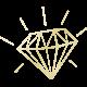 Shine- Gold Diamond Shape