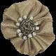 Jane - Tan Ruffled Fabric Flower
