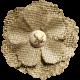 Rustic Charm Feb 2015 Blog Train Mini Kit- Burlap and Tulle Flower