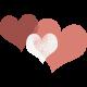 Rustic Charm Feb 2015 Blog Train Mini Kit- Colorful Heart Stamp