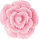 Shine- Pink Resin Flower Button
