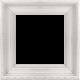 Shine- Shabby White Wood Frame