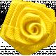 Reflections- April 2015 Blog Train Mini Kit- Tiny Yellow Fabric Rose