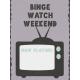 Cozy Day Journal Card- Binge Watch (3x4 Vertical)