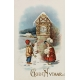 Vintage New Years Cards- Clock