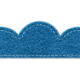 The Best Is Yet To Come 2017- Trim- Blue Scalloped Border- Stitched Felt