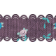 The Best Is Yet To Come 2017 Trims- Purple Scalloped Ribbon with Flowers