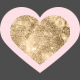 The Good Life: August Bits & Pieces- Pink Heart With Gold Heart Inside