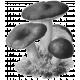 Autumn Day Vintage Mushroom Sticker Template