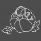 Chalked Pumpkin Outline
