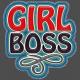 Girl Boss Denim Sticker