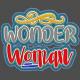 Wonder Woman Frayed Denim Sticker