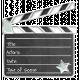 Enamel Pin- MOVIE- Movie CLAPPER BOARD