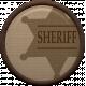 Cowboy Flair- Sheriff Badge