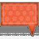 Chipboard Speech bubbles- Orange