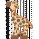 Noah's Ark Wooden Giraffe