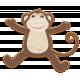 Noah's Ark Wooden Monkey