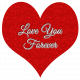 Red Heart Love You Forever