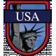 USA Word Art Crest