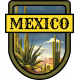 Mexico Word Art Crest
