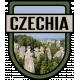 Czechia Word Art Crest