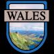 Wales Word Art Crest