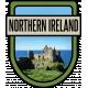 Northern Ireland Word Art Crest