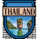 Thailand Word Art Crest